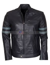Designer Black Leather Jacket Designer Men Retro Black Biker Leather Jacket