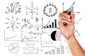 Drawing Chart Hand Drawing A Chart Writing Business Stock Image Colourbox