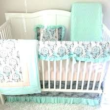 crib bedding sets for girls peach colored bedding pink and green crib bedding mint baby set