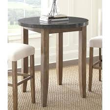 gray pub table the gray barn overlook inch round stone top pub table gray pub dining