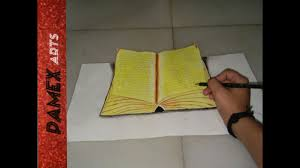 how to draw 3d book drawing 3d open book how to draw book you avec how