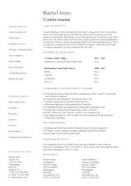 Courier Resume Delivery Driver Resume Mmventures Co
