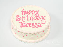 Photo Of A Simple Pink Round Birthday Cake Pattys Cakes And Desserts