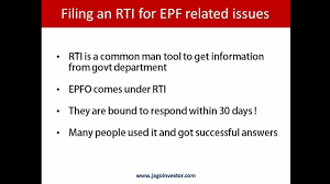 How To File Rti For Epf Employee Providend Fund Withdrawal Or