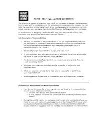 Free Basic Employee Self Evaluation Form From Template Word ...