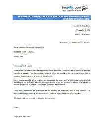 Carta De Motivacion Carta De Presentacion Oferta Sin Experiencia Turiconsejos