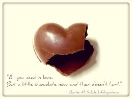 Chocolate Love Quotes Adorable Charles M Schulz Love And Chocolate Quote
