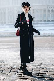 zara navy maxi coat military trend tommy hilfiger x gigi hadid military hat