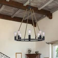 Fixtures lovely media room lighting 4 Creative Myrcella 8light Wagon Wheel Chandelier Thecubicleviews Chandeliers Youll Love Wayfair