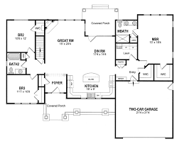 cottage country craftsman ranch southern traditional house plan 94182 level one
