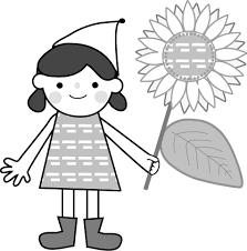 ひまわり向日葵無料イラストフリー素材