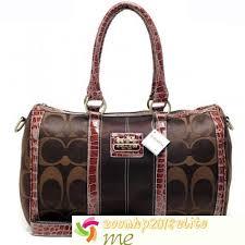 Coach Signature Medium Luggage Bags Coffee In