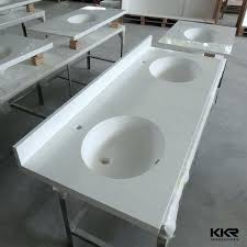 to cozy bathroom double sink ideas one piece and countertop acrylic solid surface