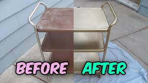 vintage metal furniture. How To Refinish A Vintage Metal Cosco Tea Cart Bar Utility Vintage Metal Furniture R