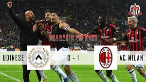 [ Dramatic Victory ] Udinese VS AC Milan ( 0 - 1 ) Highlights & Goals