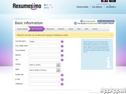 resume builder websites