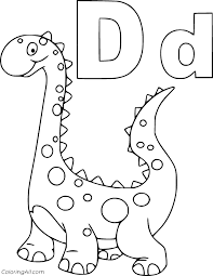 Search through 623,989 free printable. Cute Dinosaur And Letter D Coloring Page Coloringall