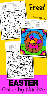 So what are you waiting for? Easter Color By Number Totschooling Toddler Preschool Kindergarten Educational Printables
