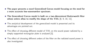 A Generalized Corcos Model For Modelling Turbulent Boundary Layer
