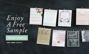 Free Wedding Invitation Samples From Elli