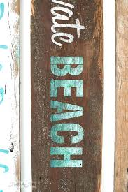 painted wood beach signs best painted wood signs images on sign stencil maker home renovation ideas