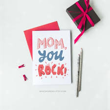 Mothers Day Card Template Impressive Mothers Day Card Printable Card With Hand Lettering Text Mom Etsy