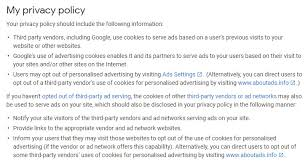 Privacy Policy for Google AdSense - Free Privacy Policy