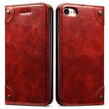 measy leather wallet phone case flip protective card holder cover kickstand folio cover for iphone 6 plus 6s plus red free dealextreme