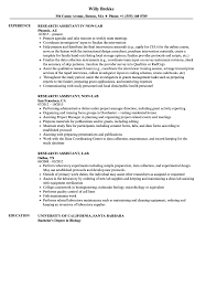 Research Assistant Resume Examples