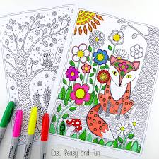 Forest Animal Coloring Page Forest Animals Coloring Pages Easy Peasy And Fun