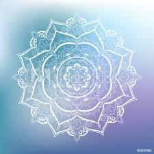 Fotografie Obraz Ornamental Circle Pattern Mandala Posterscz