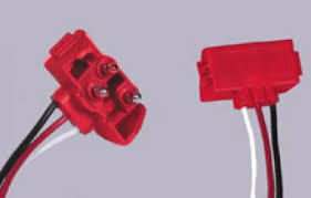 """m50900 3 pin right angle stt plug 10"""" leads model number m50900"""