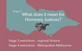 This was published 4 months ago. Update 5 Stage 3 4 Restrictions Covid 19 Advice August 2020 Royal Victorian Association Of Honorary Justices