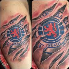 Ripped Skin Awesome Football Team Logo Tattoo Golfiancom