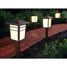 Hampton Bay Pathway Lights Classy Bronze Solar Path Lights Bay Bronze Solar Path Light 32 Pack In Bay