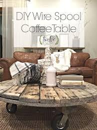 diy wire spool coffee table