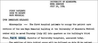 University Hospital Doctors Note Hospitals Academic Health Center History Project