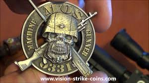 Usmc 0331 Usmc Mos 0331 Machine Gunner Coin