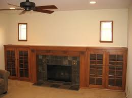 fireplace mantel alluring decor best custom arts and crafts fireplace mantel and side bookcases fireplace mantel