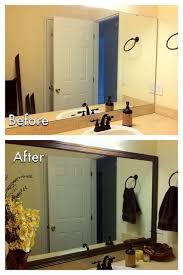 Beautiful DIY Bathroom Mirror Frame Ideas About Frame Bathroom