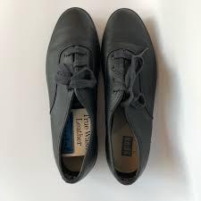 keds shoes keds true wash leather black sneakers size 9 color black size 9