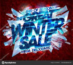 偉大な冬のセール ポスター ベクトル デザイン ストックベクター