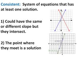 consistent system of equations that has at least one solution