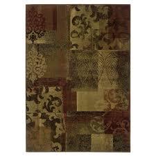 allen roth 9 10 x 12 9 rectangular green area rug