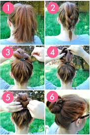 easy step by step hairstyles the knot so braided bun