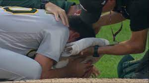 The incident occurred in the second inning of oakland's game. D Pown8fo7d8jm