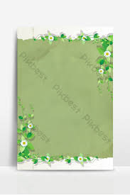 Letterhead Stationary Simple Fresh Green Flower Vine Paper Effect Letterhead