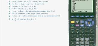 how to use a ti89 calculator graph linear equations math solve quadratic