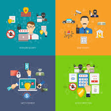 Bank Security Design Bank Security 4 Flat Icons Banner Download Free Vectors