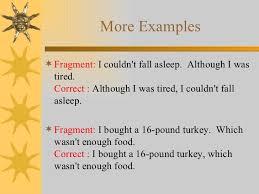 Sentences Fragments